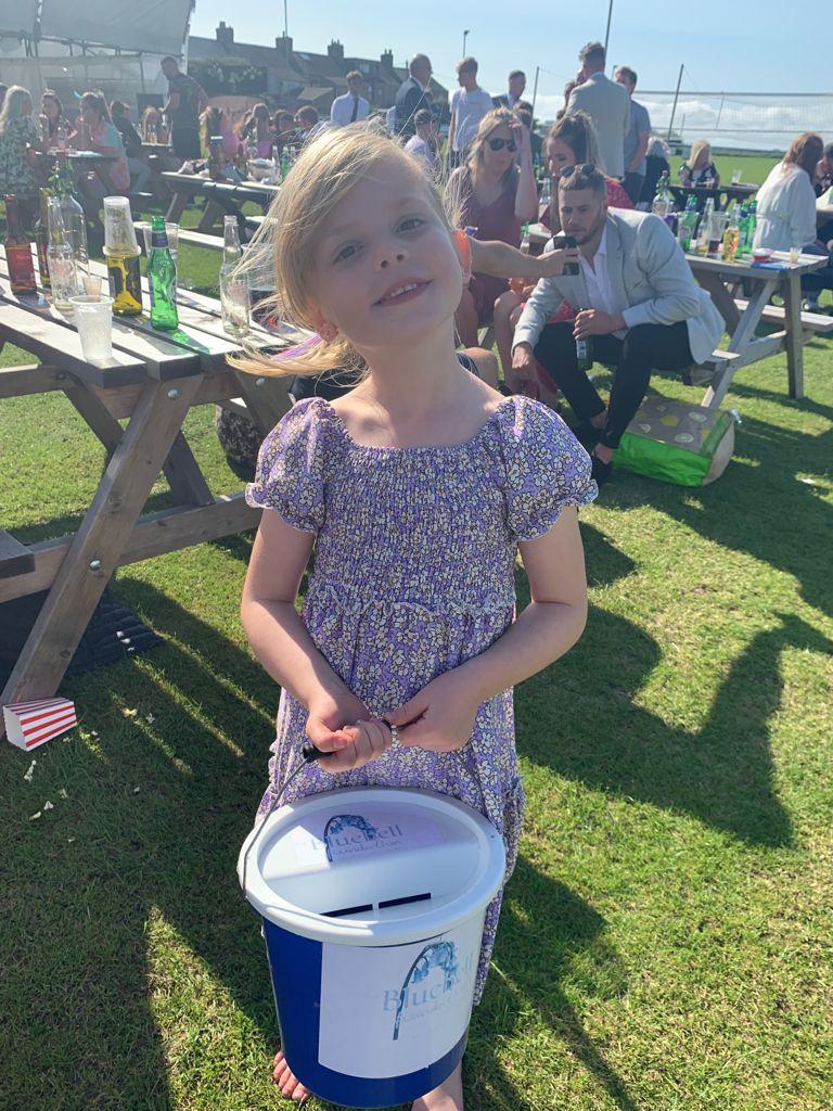 Isla with Bucket